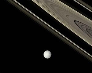 Saturno, Tethys, anillos y sombras | Imagen astronomía ...