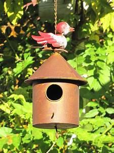 Solarleuchten Zum Hängen : rundes vogelhaus zum h ngen aus metall in rostoptik ~ Whattoseeinmadrid.com Haus und Dekorationen