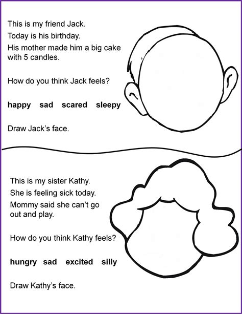 printable following directions activities worksheets for