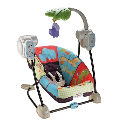 Fisherprice Luv U Zoo Space Saver Swing & Seat  Brand New