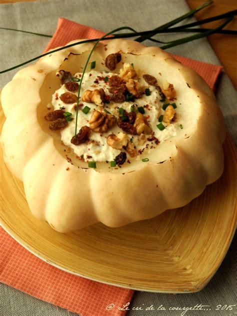 cuisine patisson pâtisson farci au chèvre noix et raisins secs blogs de