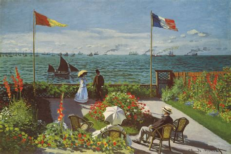 garden at sainte adresse garden at sainte adresse 1867 canvas artwork by claude