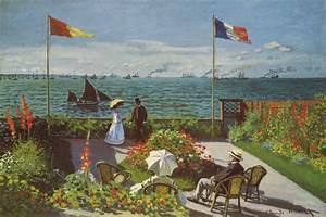 Garden at Sainte-Adresse 1867 Canvas Artwork by Claude ...