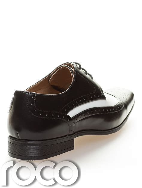 Black and White Dress Shoes Boys
