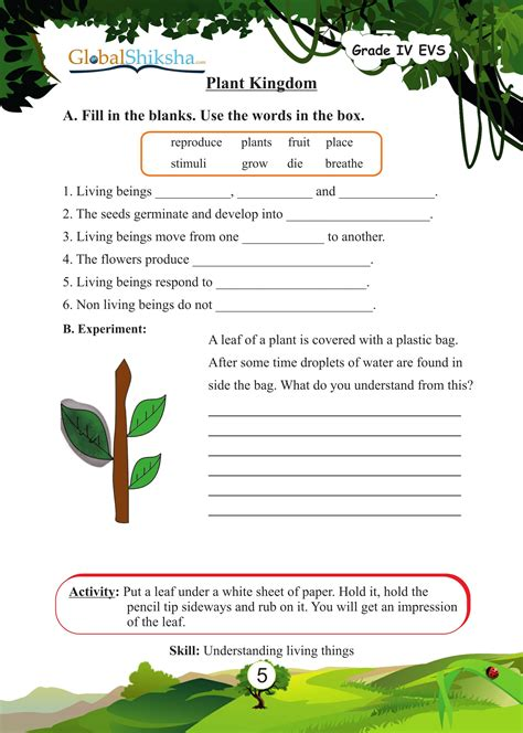 buy worksheets for class 4 environmental science evs