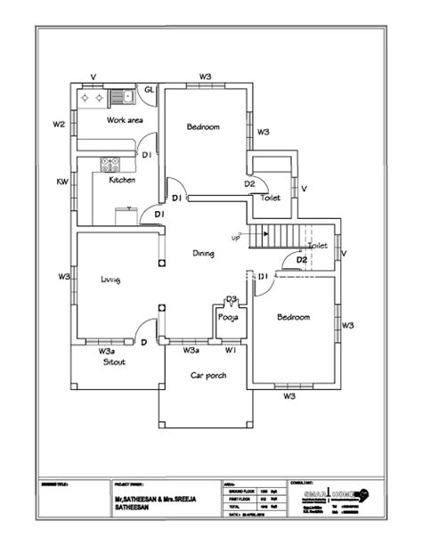 modern  sqft bhk independent house villa floor plan