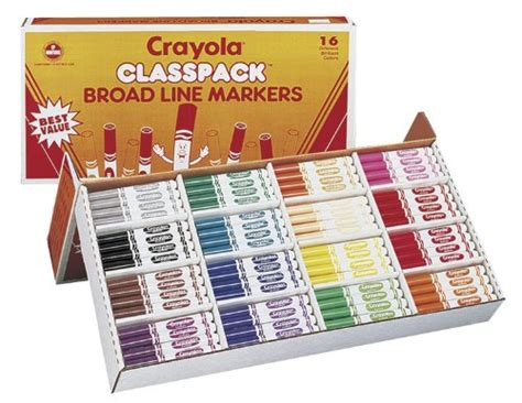 Save On Crayola 256ct Classpack 16 Colors Broad Line