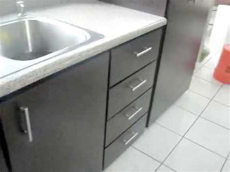 gabinete pvc de cocina color wengue    youtube
