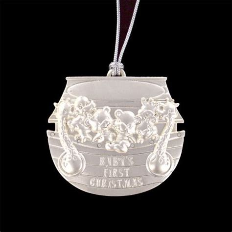 personalized silver quot baby s first christmas quot ornament w