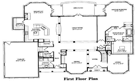 bedroom house plans  bedroom house floor plans  bedroom floor plans treesranchcom