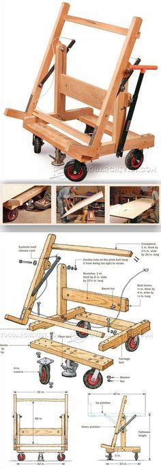 pivoting plywood cart plans workshop solutions projects