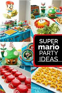 Game On! A Boy's Super Mario Party Spaceships and Laser