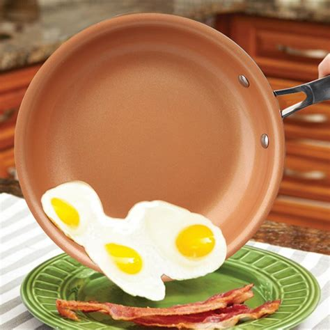 creative  stick copper frying pan  ceramic coating  induction cooking frying
