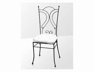 la metallerie chaise en fer forge avec coussin With deco cuisine avec chaise fer forgà
