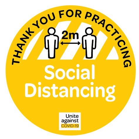 covid  social distancing   floor sign decals