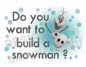 Do You Want To Build a Snowman Piano Sheet Music