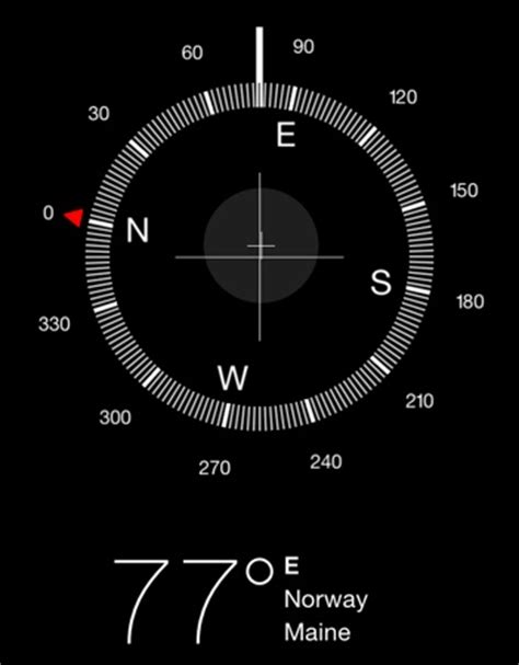 how to use iphone compass how to use the ios compass for basic land navigation
