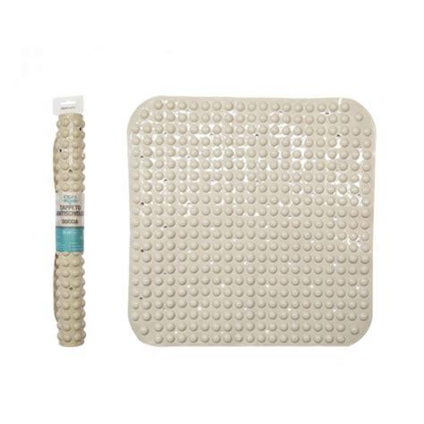 tappeto quadrato clicson tappeto antiscivolo quadrato doccia 500gr beige