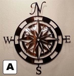 Buy a custom made compass rose metal wall art home decor