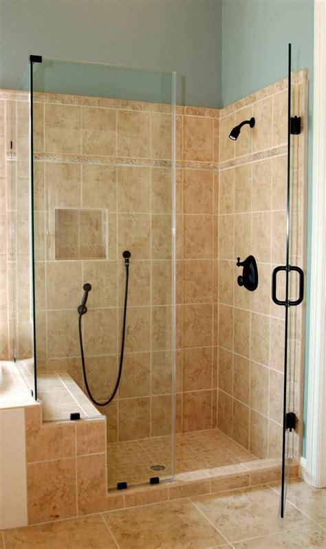 Shower Door For Shower Stall by Bathroom Corner Glass Shower Enclosure With Black Door
