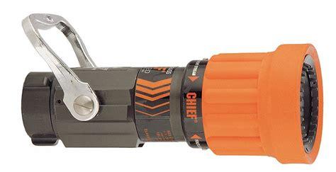 Elkhart Brass Fire Hose Nozzle, 1-1/2 In., Orange
