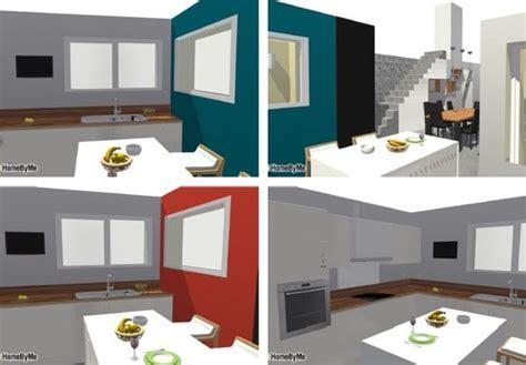 cuisine blanc laqué plan travail bois cuisine choix crédence et couleur mur