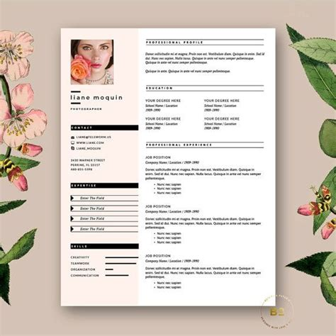 Stylish Resume Templates by Stylish Resume Template 3pk Modern Cv Free Cover
