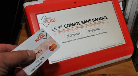 carte bancaire vendu au bureau de tabac argent le succès du compte nickel