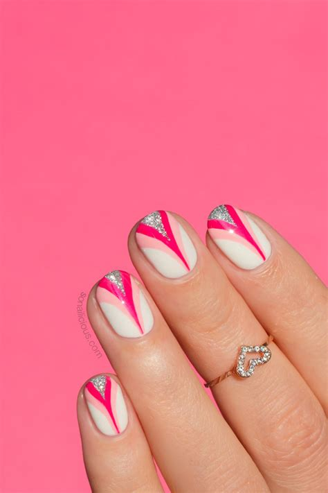 breast cancer nail designs pink ribbon nail plus an important message