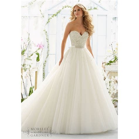 2016 Princess Wedding Dresses Ball Gown Beaded Sequins