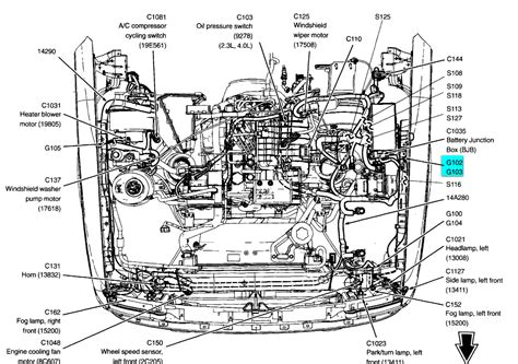 Ford 3 0 Liter Engine Diagram by 2006 Ford Ranger 2 3 Fuel Ground Wire Diagram