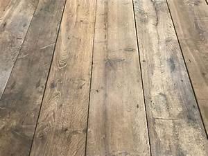 plancher ancien de recuperation en vieux chene patine With vieux parquet chêne