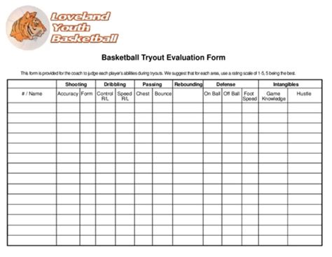 notice football player evaluation form users guide manuals