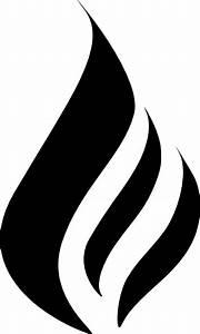 B&w Flame Logo Black Clip Art at Clker.com - vector clip ...