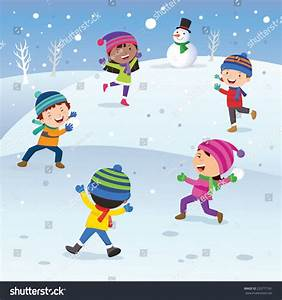 Winter clipart fun kid - Pencil and in color winter ...