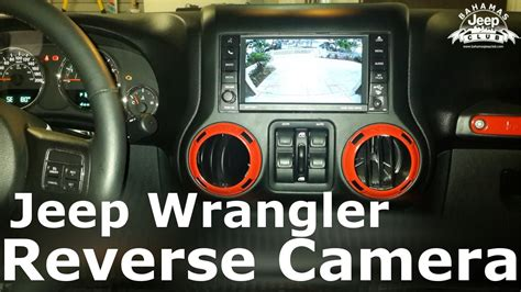 jeep wrangler reverse camera installation youtube