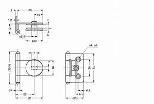 GH-34/0/PB INSET GLASS DOOR HINGE - Alema Hardware