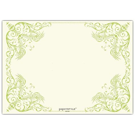 elegant green border rehearsal dinner invitations paperstyle