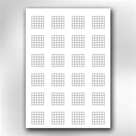 Printable Guitar Blank Chord Chart Diagrams Songwriting