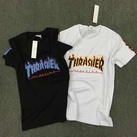 tshirt thrasher hitam thrasher skate tshirt x new brand t shirt hip hop