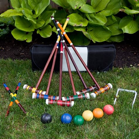 Backyard Croquet by Franklin Advanced Deluxe Croquet Set At Hayneedle