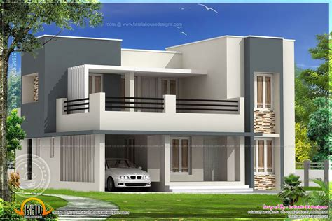smart placement front view of homes ideas modern flat roof house square home building plans