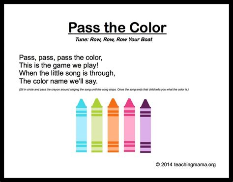 10 preschool songs about colors 578 | PassTheColor 1024x800
