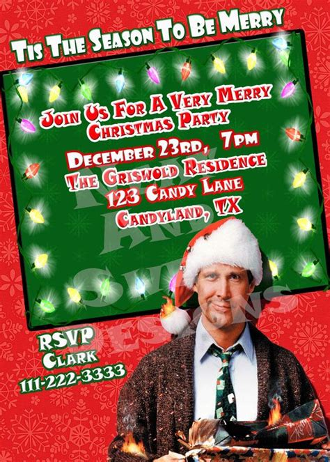 christmas vacation party invitations 5 x 7 printable vacation invitation grisw
