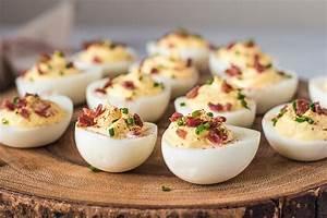 Sour Cream and Bacon Deviled Eggs Recipe SimplyRecipes com