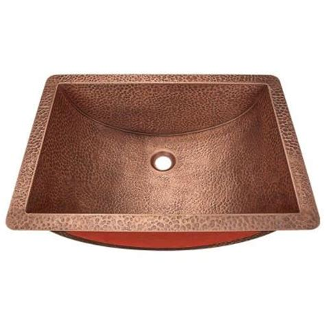 polaris sinks undermount bathroom sink in copper p629