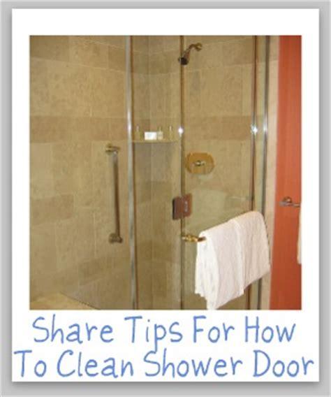 how to clean shower door tips and hints