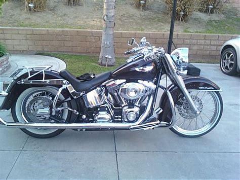 2007 Harley-davidson® Flstn Softail® Deluxe (black Cherry