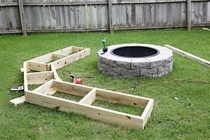 Diy Circle Bench Around Your Fire Pit • 1001 Gardens