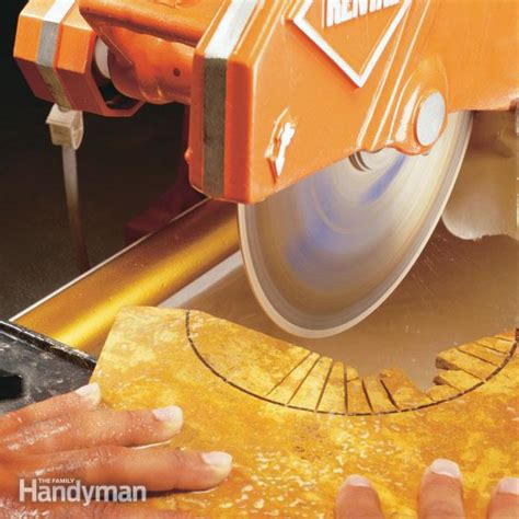how to make precision cuts with a tile saw the